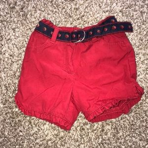 Janie and Jack strawberry belted shorts